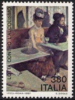 Problemi del nostro tempo - L'alcolismo - «L'absinthe»  di E. Degas