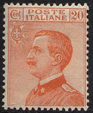 1925 - Tipi del 1908 - Effige di Vittorio Emanuele III - volta a sinistra
