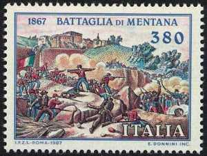 120° Anniversario della Battaglia di Mentana - stampa d'epoca