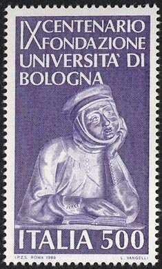 9° Centenario della fondazione della Università di Bologna - bassorilievo