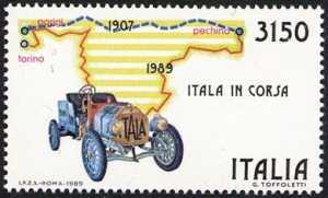 Riedizione della Parigi-Pechine del 1907 - autovettura Itala in corsa