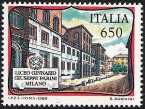 «Scuole d'Italia» - Liceo Giuseppe Parini , Milano - facciata del Liceo