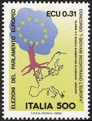 3ª Elezione del Parlamento Europeo - valore facciale in Lire ed ECU