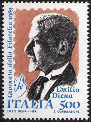 Giornata della Filatelia - Omaggio a Emilio Diena - ritratto del perito filatelico