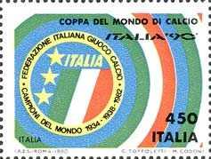 Coppa del mondo di calcio «Italia '90» - Scudetto dell'Italia