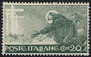 1926 - 7º Centenario della morte di San Francesco - il santo prega