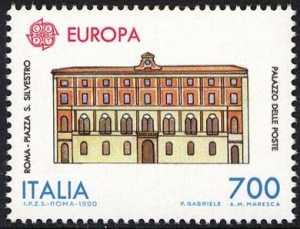 Europa - Edifici postali di ieri e di oggi - Palazzo delle Poste - Roma
