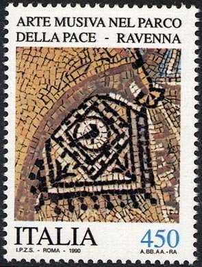 Patrimonio artistico e culturale italiano - Arte musiva del Parco della Pace ( Ravenna)  - antico mosaico bizantino