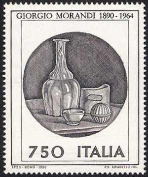 Patrimonio artistico e culturale italiano - Centenario della nascita di Giogio Morandi - acquaforte