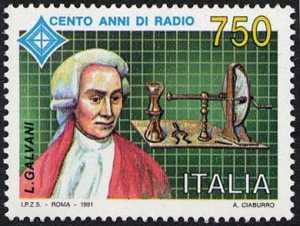 Centenario della radio - 1ª emissione - Luigi Galvani