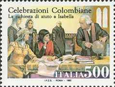 Celebrazioni Colombiane nel 5° centenario della scoperta dell'America - Emissione congiunta con gli Stati Uniti -«La richiesta di aiuto»