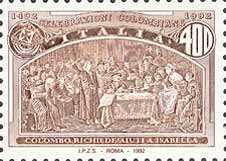 5° Centenario della scoperta dell'America - Colombo richiede aiuti