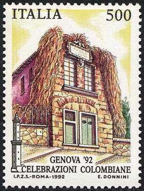 «Genova '92» - Celebrazioni Colombiane nel 5° Centenario della scoperta dell'America - casa di Colombo a Genova