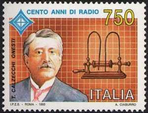 Centenario della Radio - 3ª emissione - Temistocle Calzecchi Onesti - scienziato