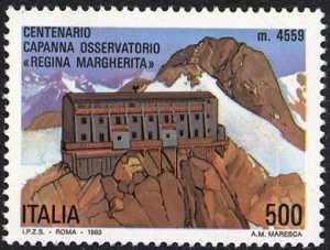 Centenario della costruzione della Capanna Osservatorio «Regina Margherita» - Panorama e Capanna