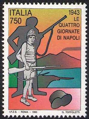 Avvenimenti storici della II Guerra mondiale nel cinquantenario - «Le quattro giornate di Napoli»