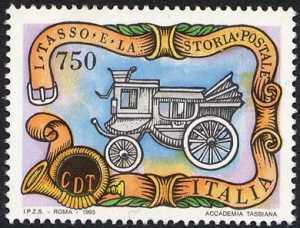 I Tasso e la storia postale - diligenza postale