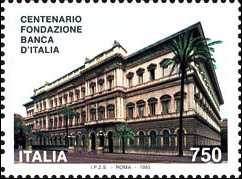 Centenario della fondazione della Banca d'Italia- Sede centrale