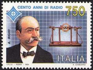 Centenario della Radio - Augusto Righi - ritratto dello scienziato
