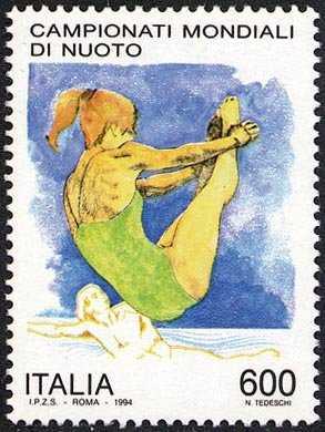 Lo sport italiano - Campionati mondiali di nuoto - tuffatrice e nuotatrice