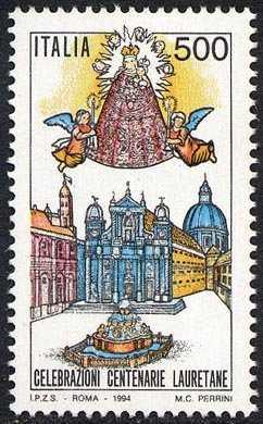 Celebrazioni centenarie Lauretane - Basilica di Loreto e Madonna col Bambino