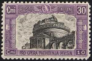 1928 - Pro opera di previdenza M.V.S.N. - 2ª serie - Castel sant'Angelo