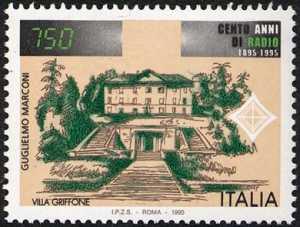 Centenario della Radio - 5ª emissione - Guglielmo Marconi - Villa Griffone