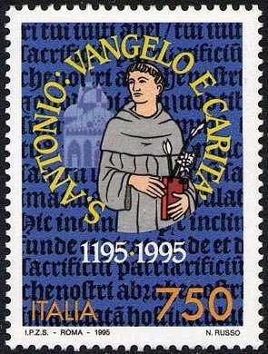 8° Centenario della nascita di Sant'Antonio di Padova - emissione congiunta con il Portogallo