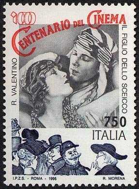 Cinema italiano - Centenario del cinema - Locandina del film «Il Figlio dello Sceicco»