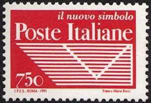 Istituzione dell'Ente Pubblico Economico «Poste Italiane» - logo dell'Ente ( negativo )