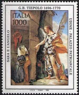 Patrimonio artistico e culturale italiano - 3° Centenario della nascita di Giambattista Tiepolo - «Sara e l'Angelo»