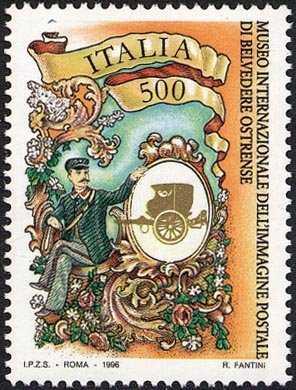 Patrimonio artistico e culturale italiano - Museo internazionale dell'immagine postale di Belvedere Ostrense - Stampa d'epoca