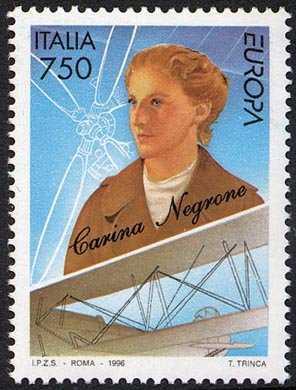 Europa - 41ª serie - Donne celebri - Carina Negrone , aviatrice