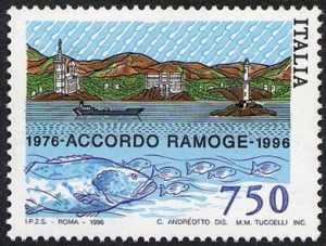 20° Anniversario dell'accordo RA.MO.GE. - emissione congiunta con Francia e Monaco - Costa Azzurra e Riviera Ligure