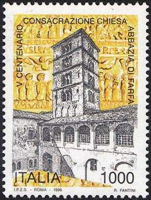 5° Centenario della consacrazione della chiesa dell'Imperiale Abbazia di Farfa - veduta dell'Abbazia