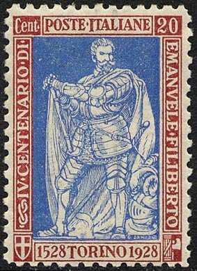 1928 - IV° Centenario della nascita di Emanuele Filiberto e X Anniversario della Vittoria