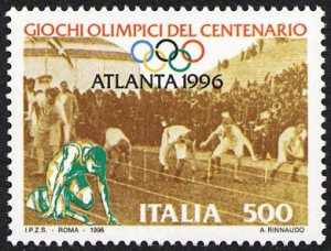 Lo sport italiano - Centenario di Giochi Olimpici - atleti di ieri e di oggi