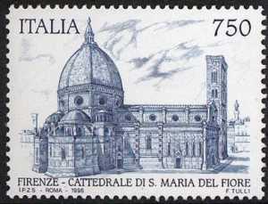 Patrimonio artistico e culturale italiano - 7° Centenario della Cattedrale di S. Maria del Fiore - Firenze- veduta