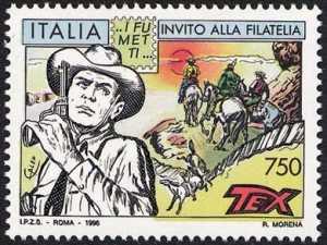 Invito alla filatelia - Fumetti - «Tex Willer» di Galep
