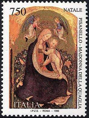Natale - «Madonna della Quaglia» - Dipinto di Pisanello