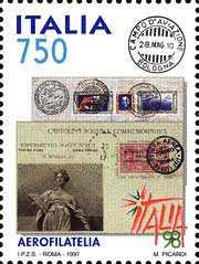 «ITALIA '98» - Esposizione mondiale di filatelia - Milano - Aerofilia