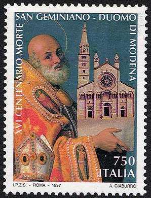 Patrimonio artistico e culturale italiano - Duomo di Modena - 16° Centenario della morte di S. Geminiano