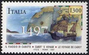 5° Centenario dello sbarco di Giovanni Caboto sulle coste canadesi - emissione congiunta con il Canada