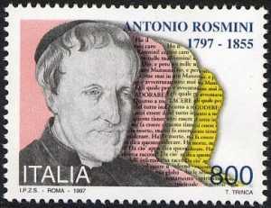 Bicentenario della nascita del sacerdote Antonio Rosmini, filosofo - ritratto