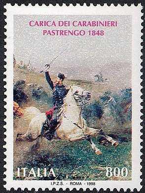 150° Anniversario della Battaglia di Pastrengo e della Carica dei Carabinieri - dipinto di S. De Albertis