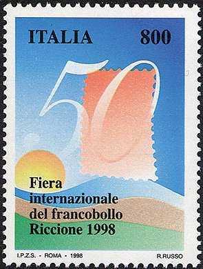 50ª edizione della «Fiera internazionale del francobollo» - Riccione