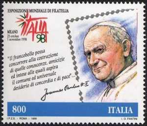 «Italia '98» Esposizione Mondiale di Filatelia, Milano -«Giornata del Francobollo e del Collezionismo» - emissione congiunta con San Marino e Vaticano