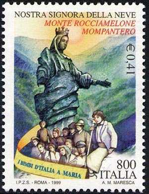 Centenario della posa in vetta, sul monte Rocciamelone, della stauta di Nostra Signora della Neve