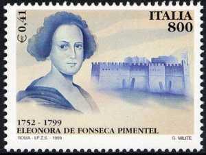 Centenario della morte di Eleonora de Fonseca Pimentel - scrittrice e patriota - ritratto e Castel S. Elmo