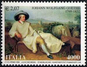 250° Anniversario della nascita di Johann Wolfgang Goethe - scrittore